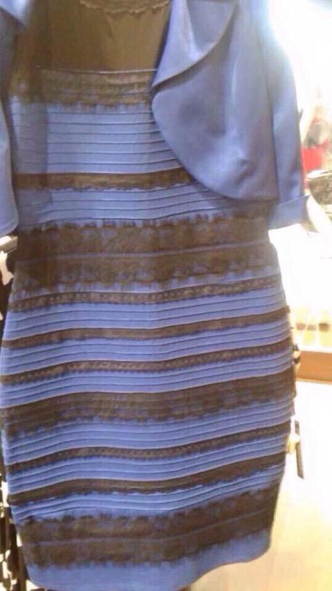 a dress with colours that different people see in different ways